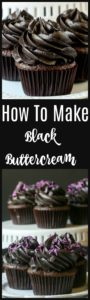 how to make black buttercream frosting