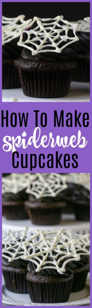 how to make spiderweb cupcakes