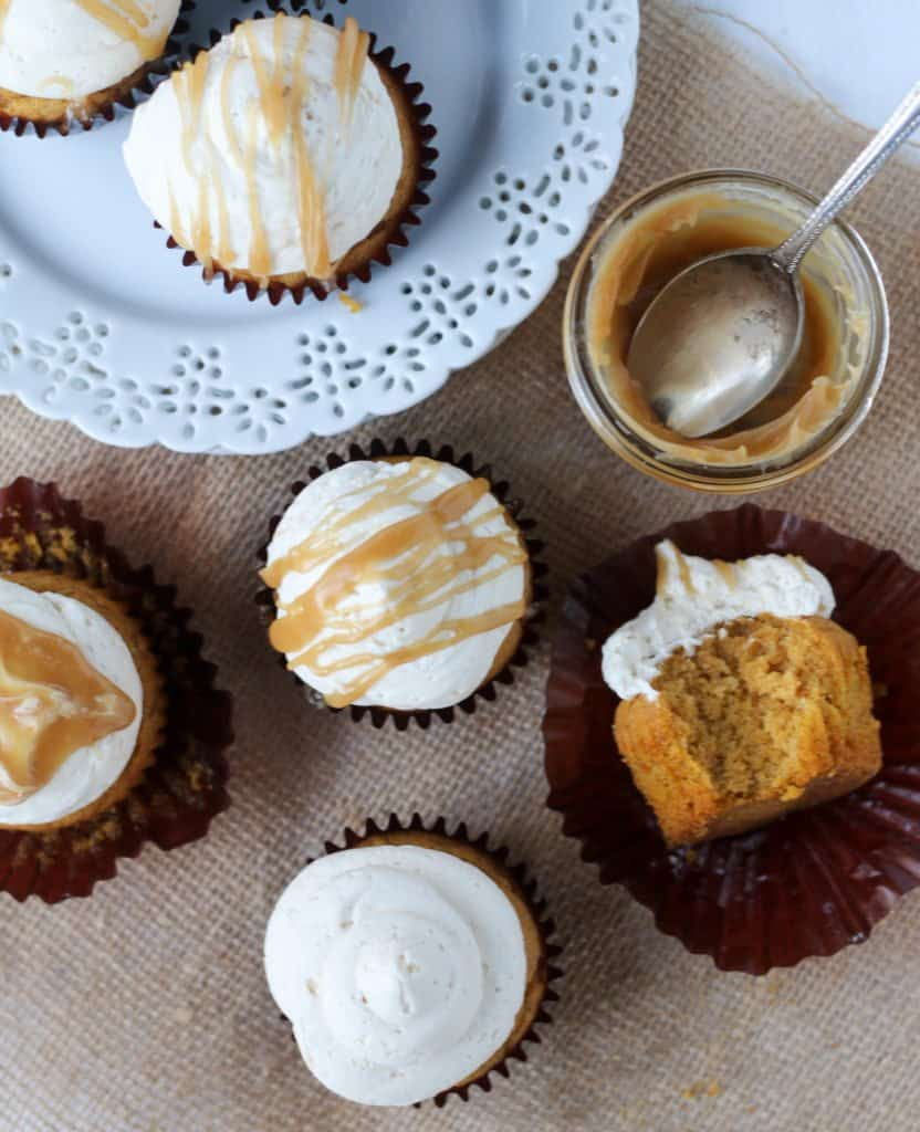 Small batch easy pumpkin cupcake recipe