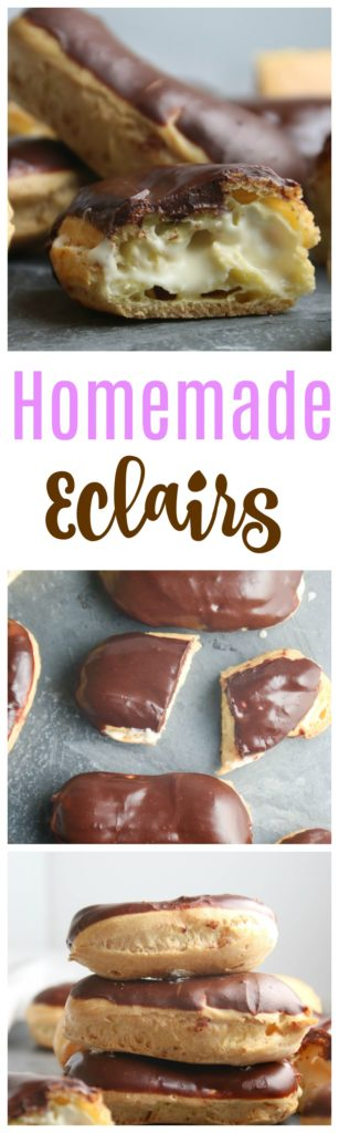 french eclair recipe - step by step tutorial
