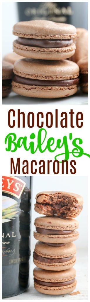 chocolate bailey's macarons
