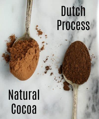 Natural Cocoa Vs Dutch Process Cocoa Powder
