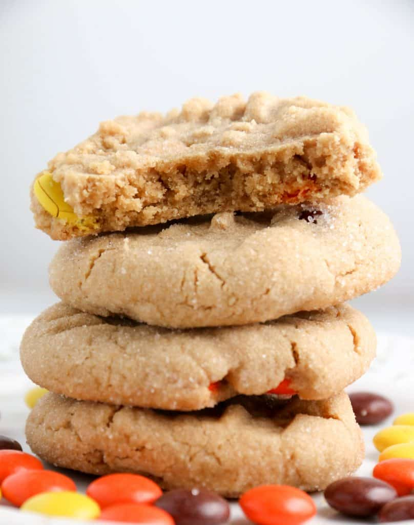 a Stack of Reese's Peanut Butter Cookies