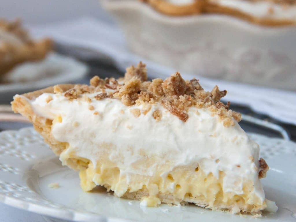 slice of Old Fashioned Coconut Cream Pie