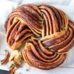 braided nutella bread