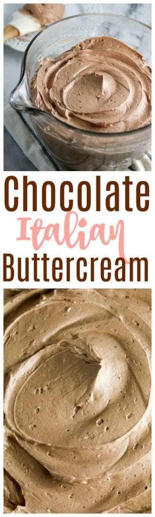 chocolate italian buttercream