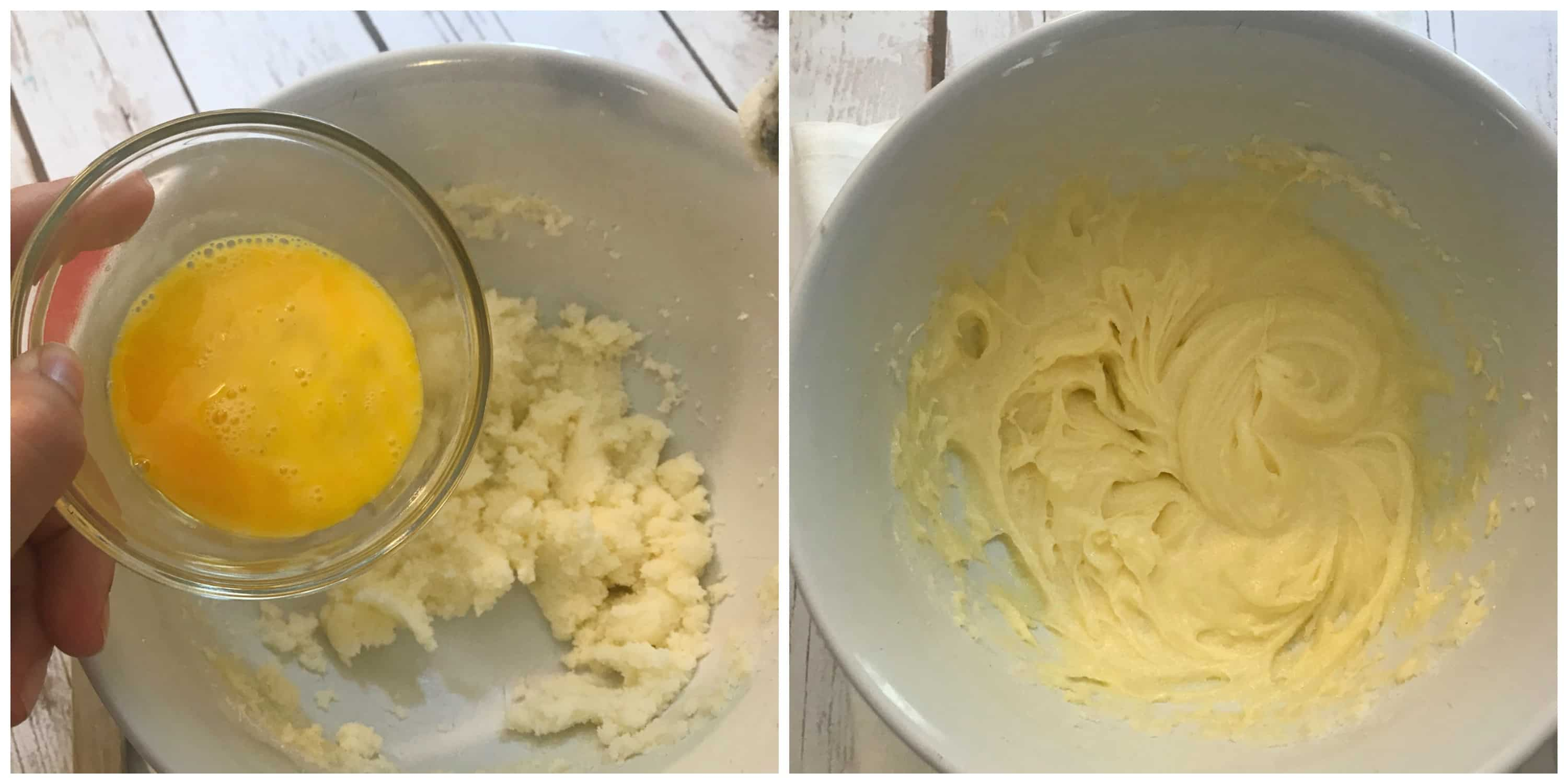 egg added to creamed mixture