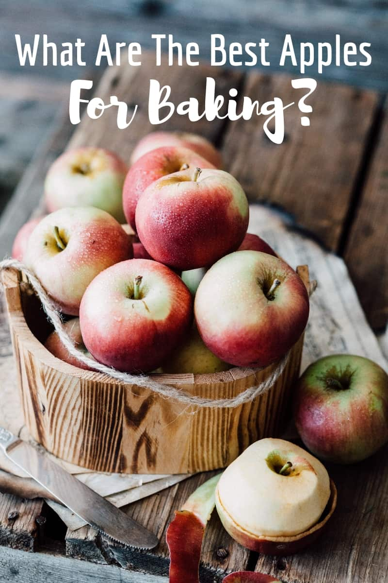 """bowl of apples with caption """"what are the best apples for baking?"""""""