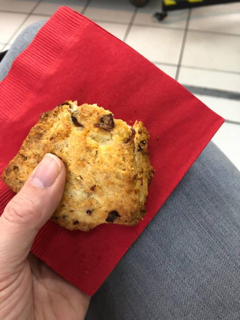 flaky cranberry scone