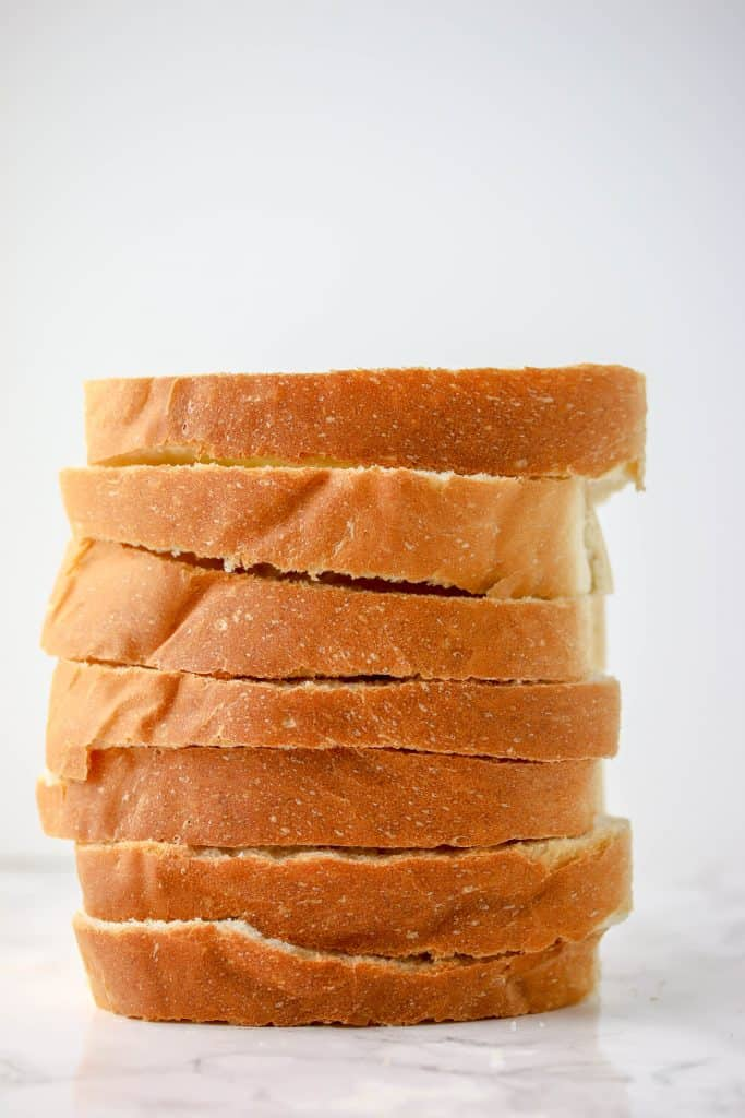 a stack of bread slices