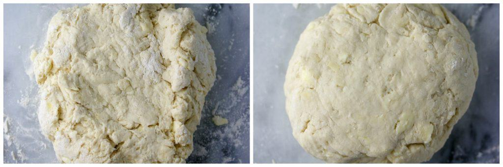 biscuit dough kneaded into a smooth ball