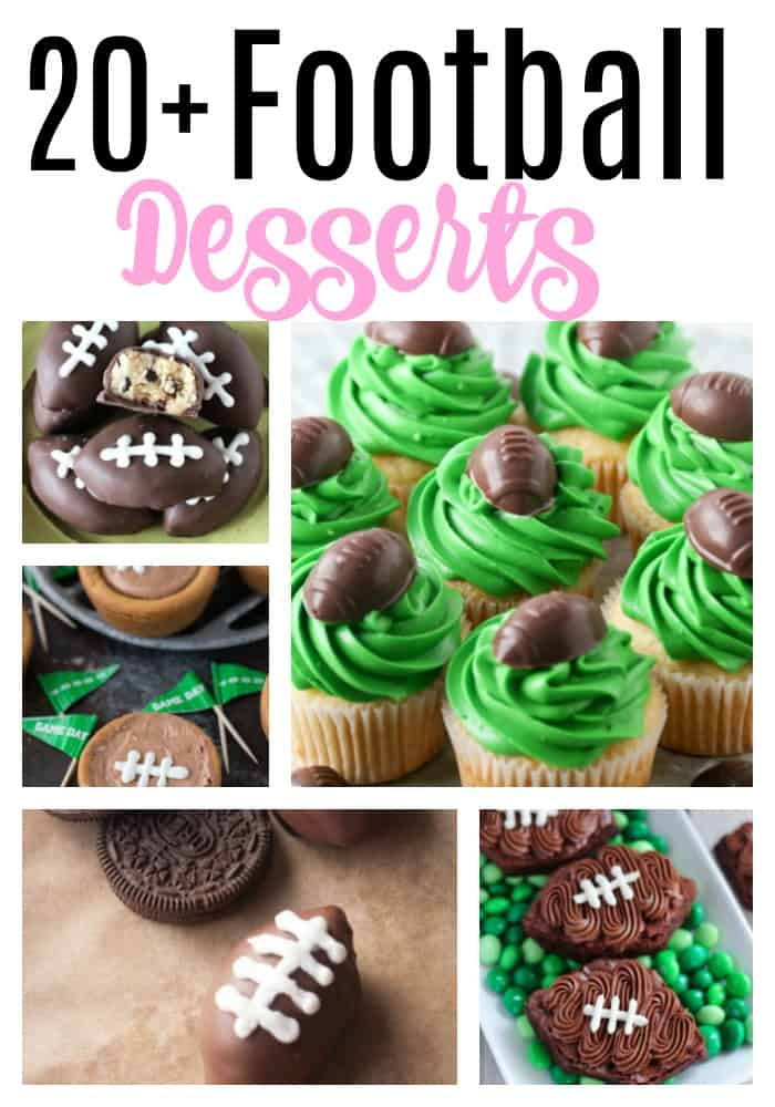 20+ Football Desserts Perfect For The Superbowl!