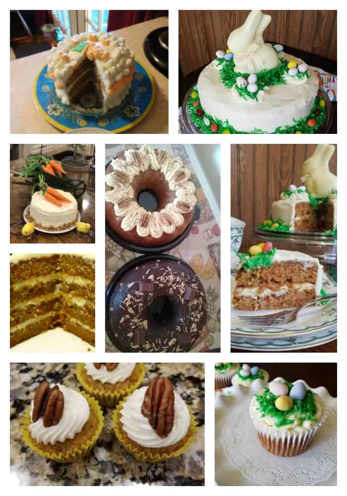 carrot cakes and cupcakes