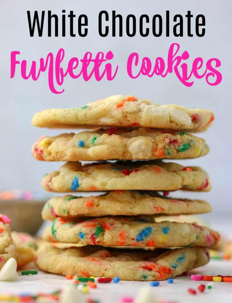 white chocolate funfetti cookies