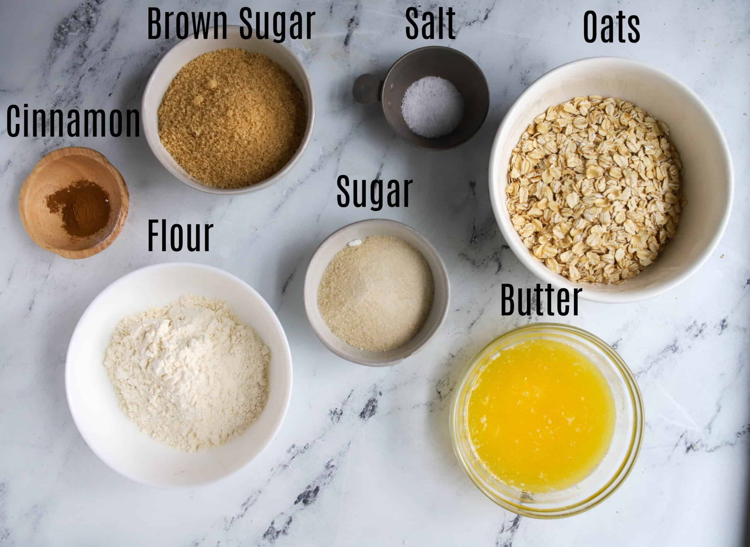 ingredients for berry crisp topping
