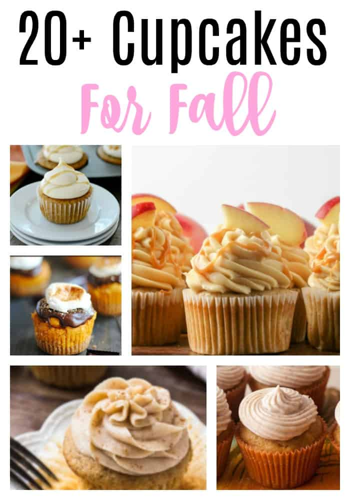 Fall Cupcake collage for Pinterest