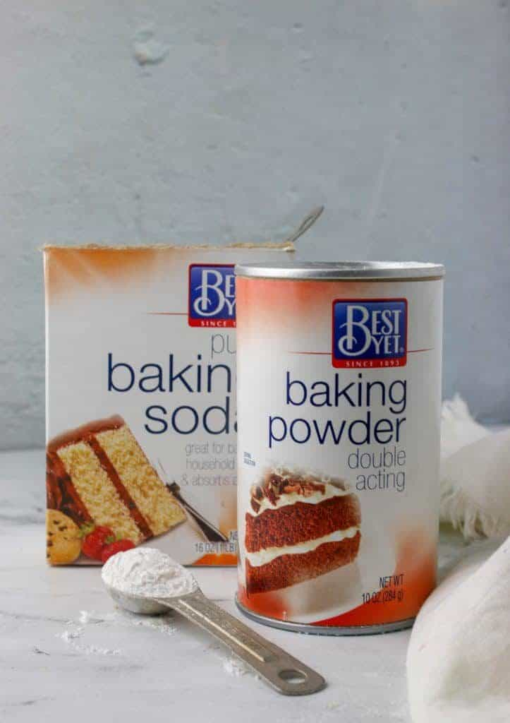 container of baking powder and baking soda