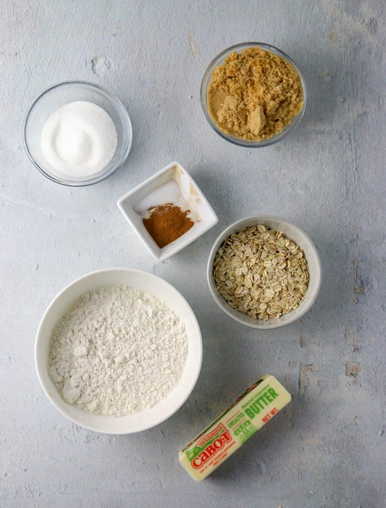oatmeal streusel ingredients