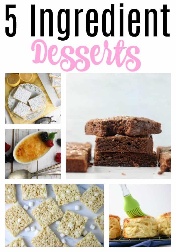 5 ingredient desserts pin collage