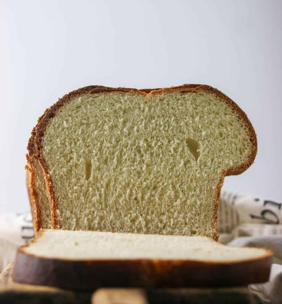 slice of sourdough brioche bread