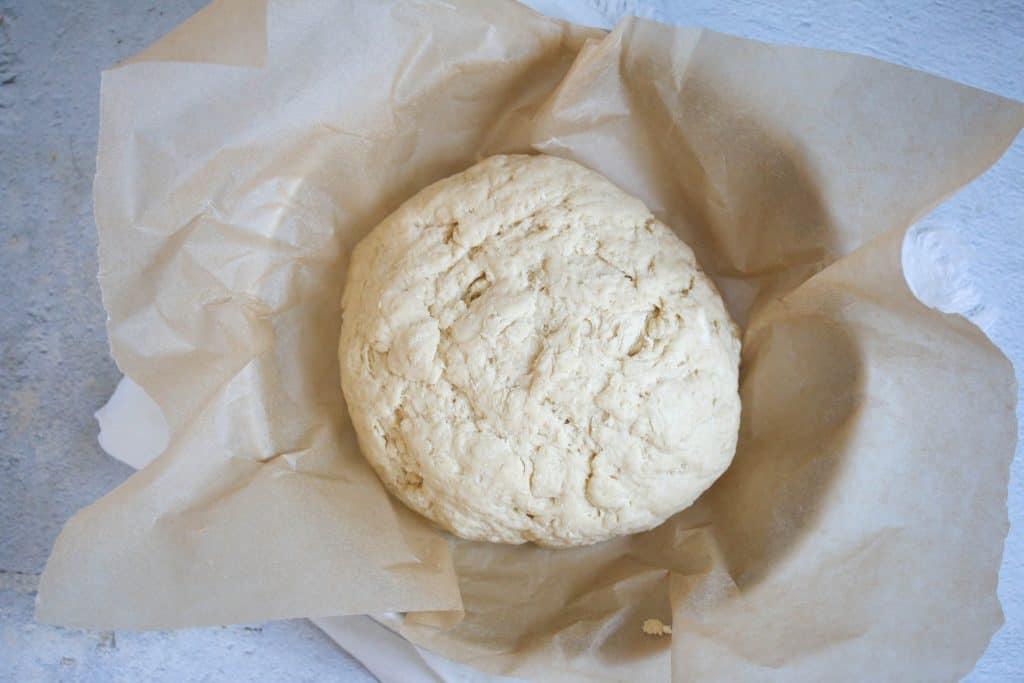 no yeast bread dough in a cake pa