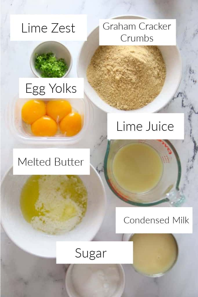 ingredients for key lime bars