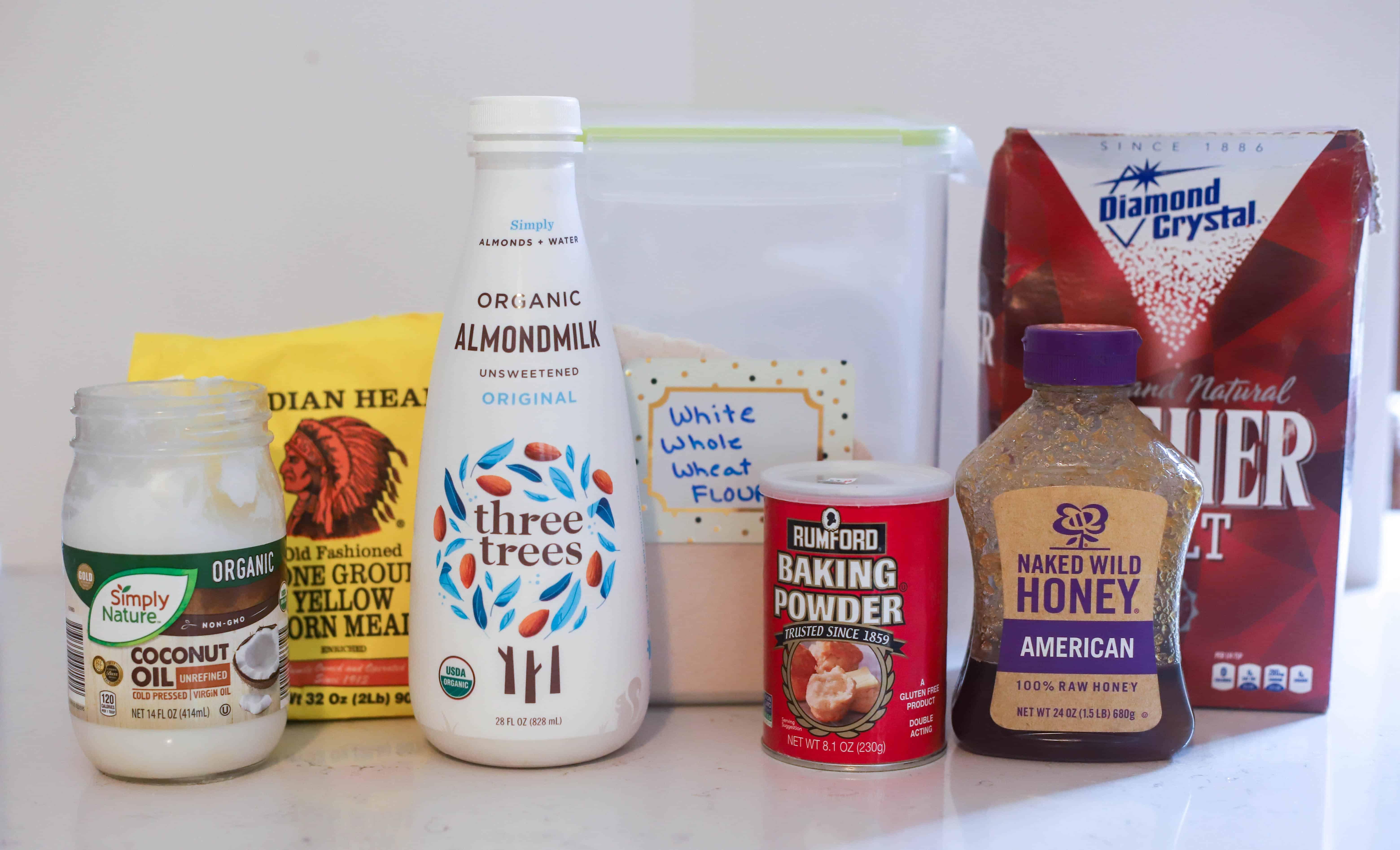 ingredients for healthy cornbread recip
