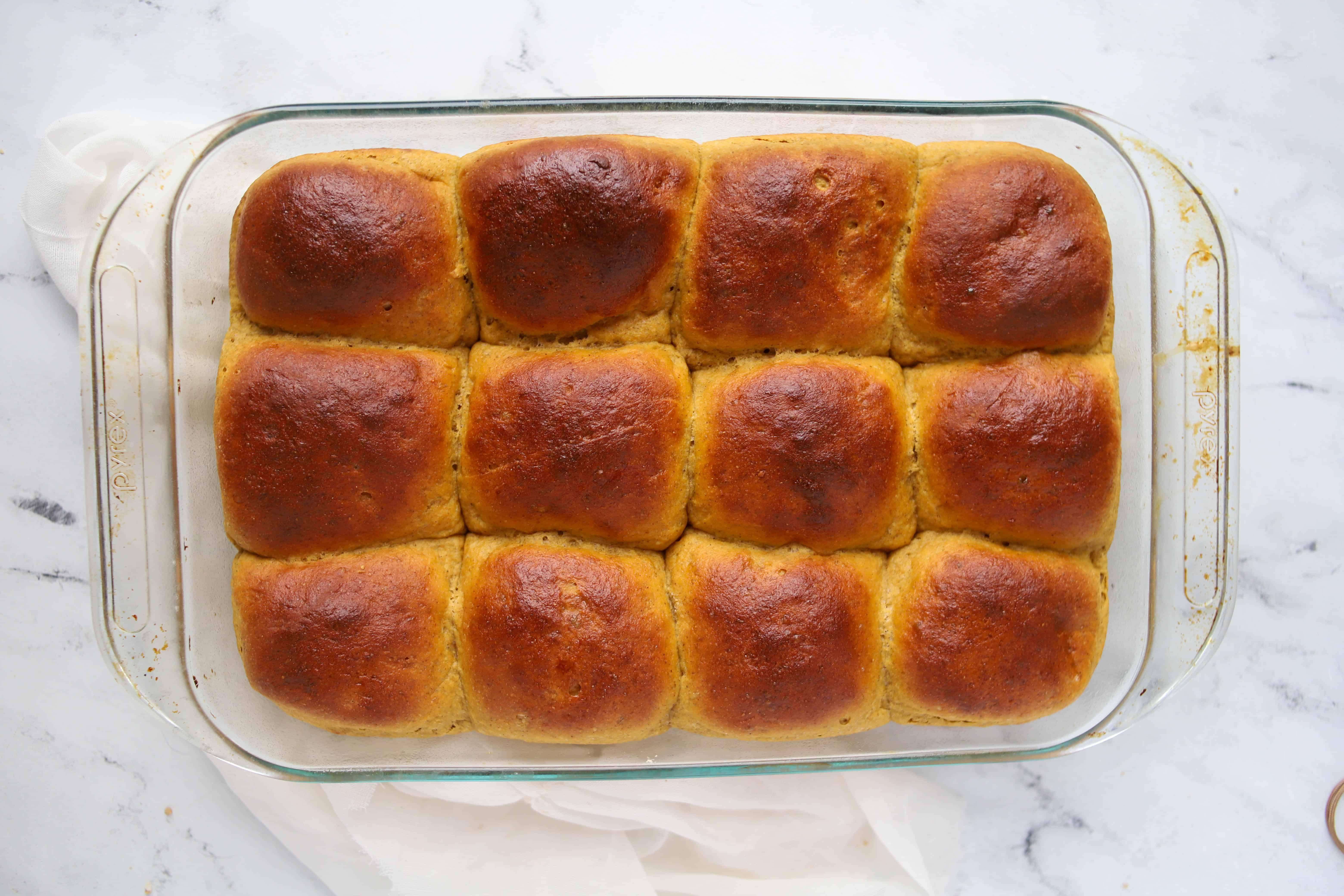 baked pumpkin rolls