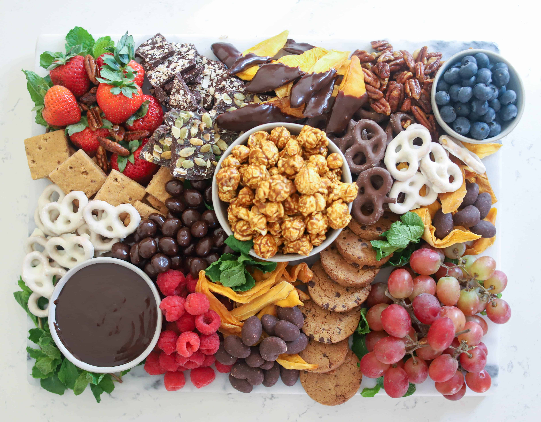 a dessert charcuterie board