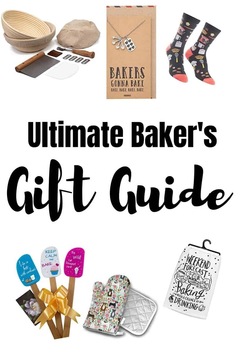 photo collage that reads Ultimate Baker's Gift guide