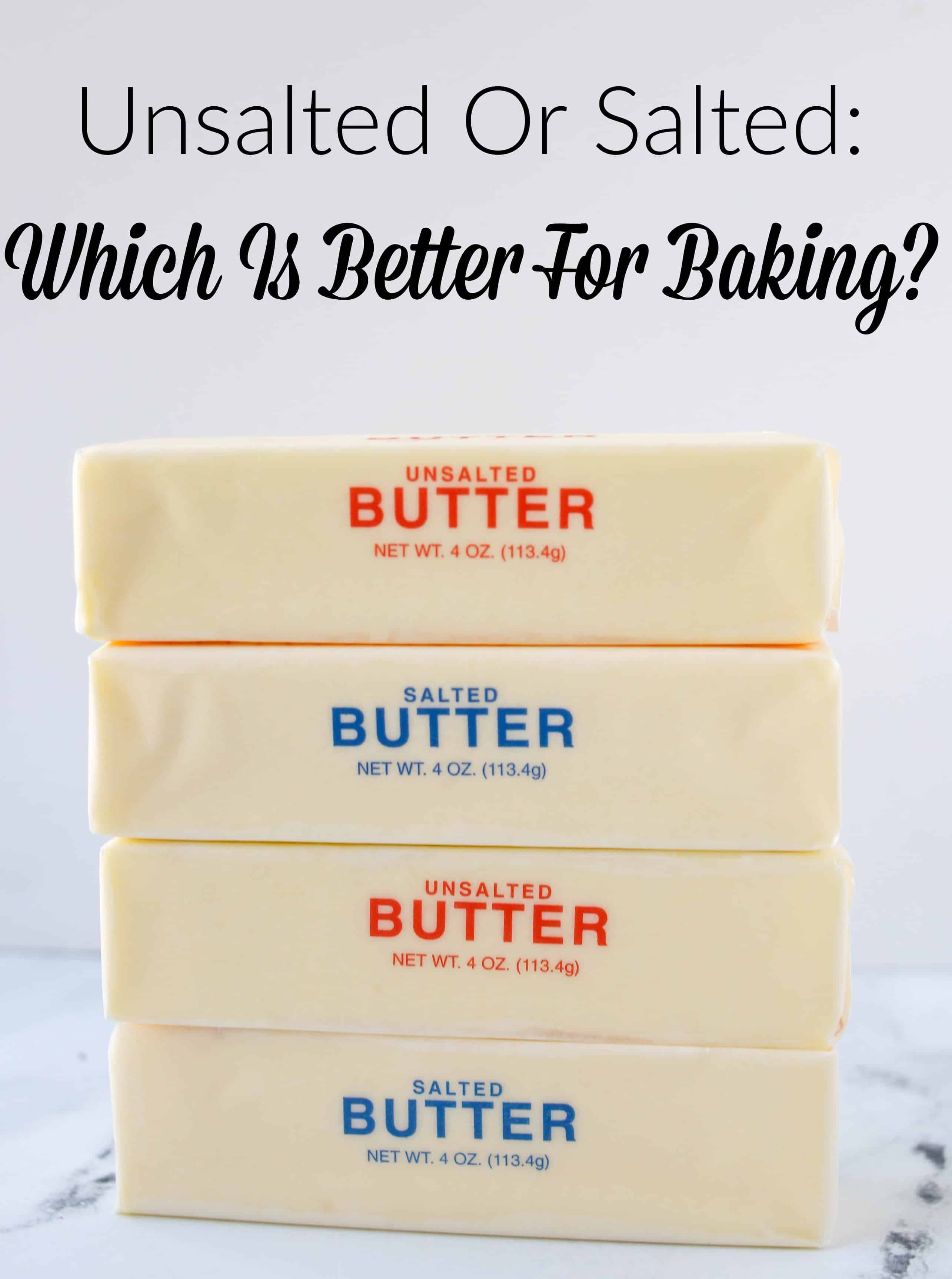four sticks of butter stacked
