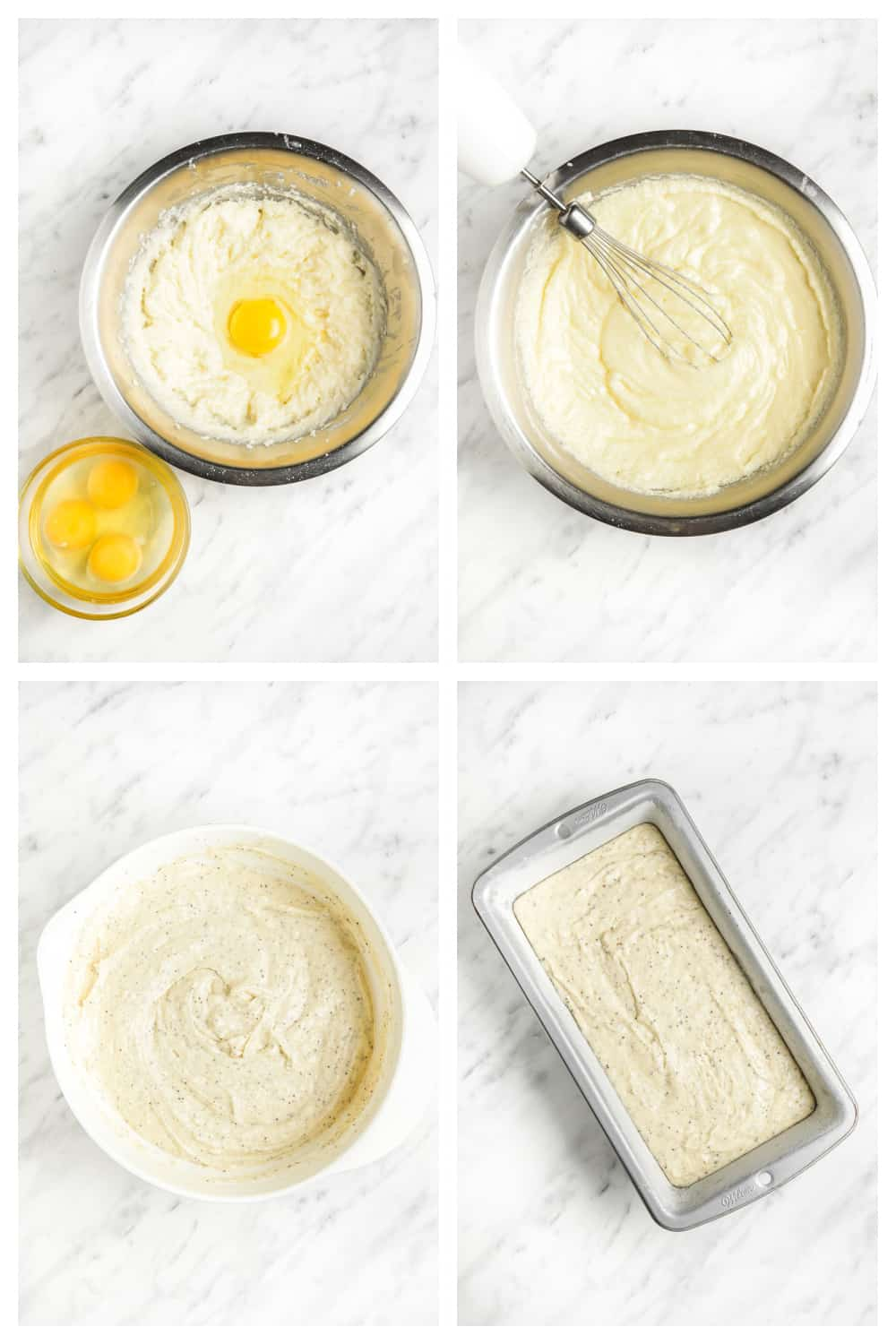 step by step photos of making the lemon poppy seed bread