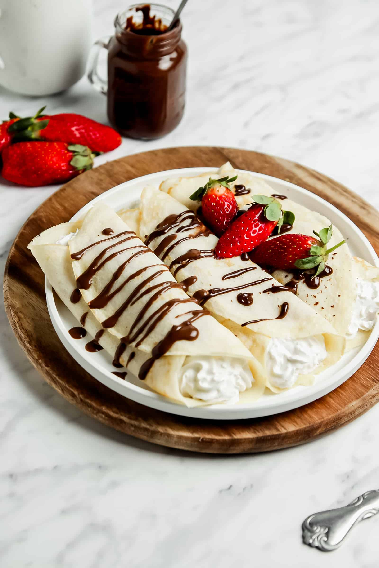sourdough crepes on a plate