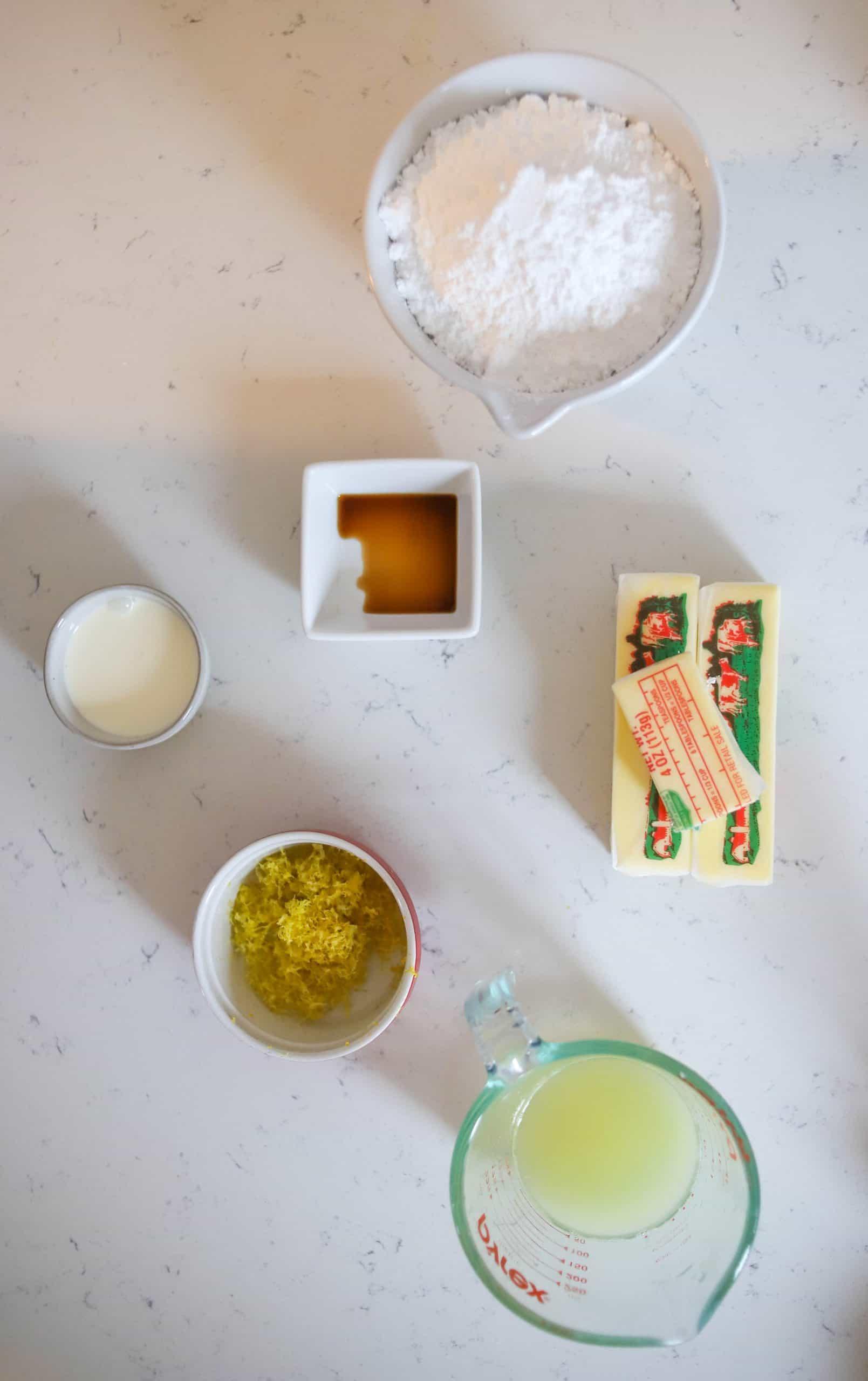 lemon buttercream frosting ingredients
