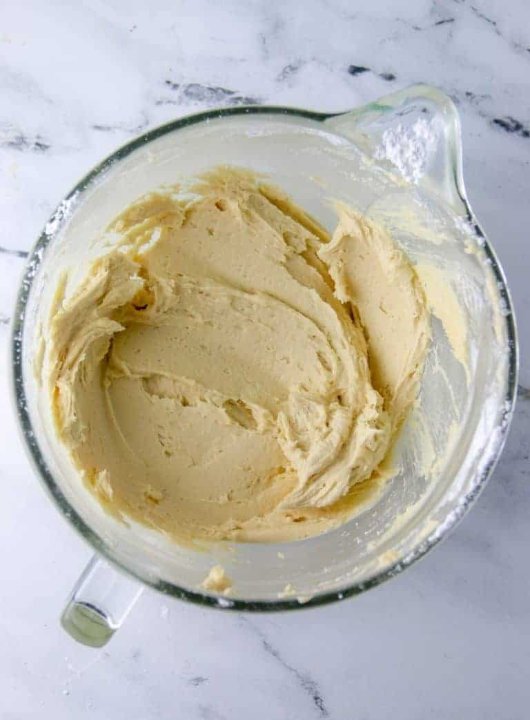 bowl of brown sugar buttercream