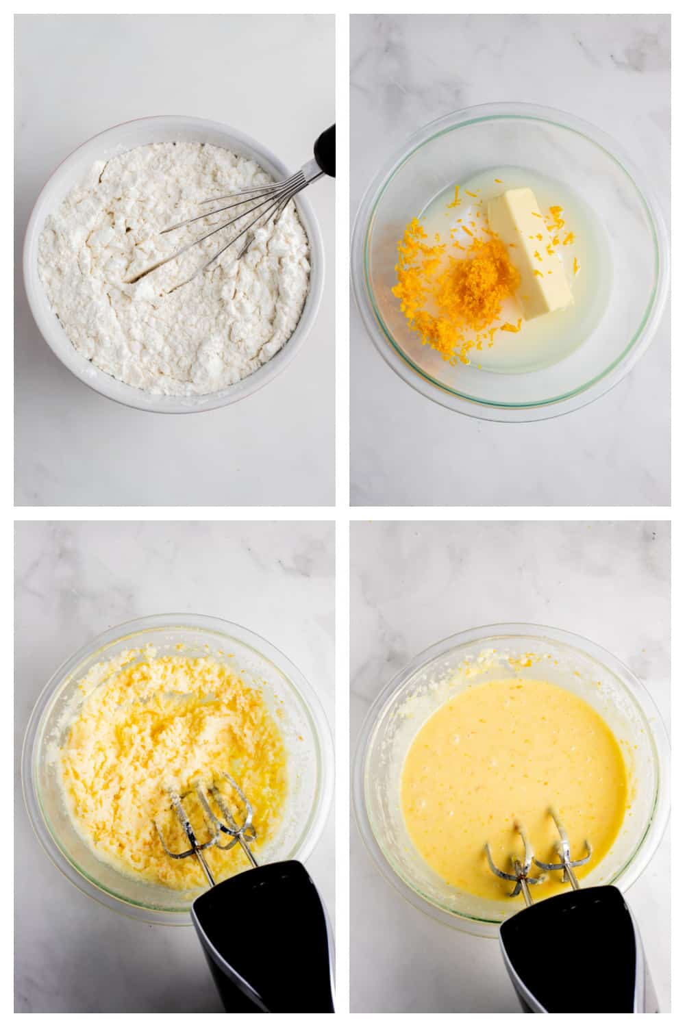 step by step photos of making cake batter