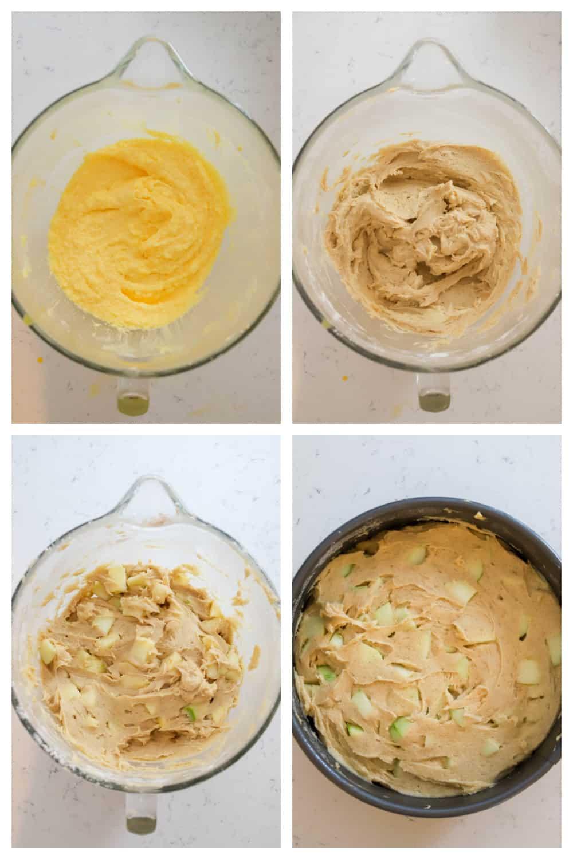 step by step photos of making Irish apple cake