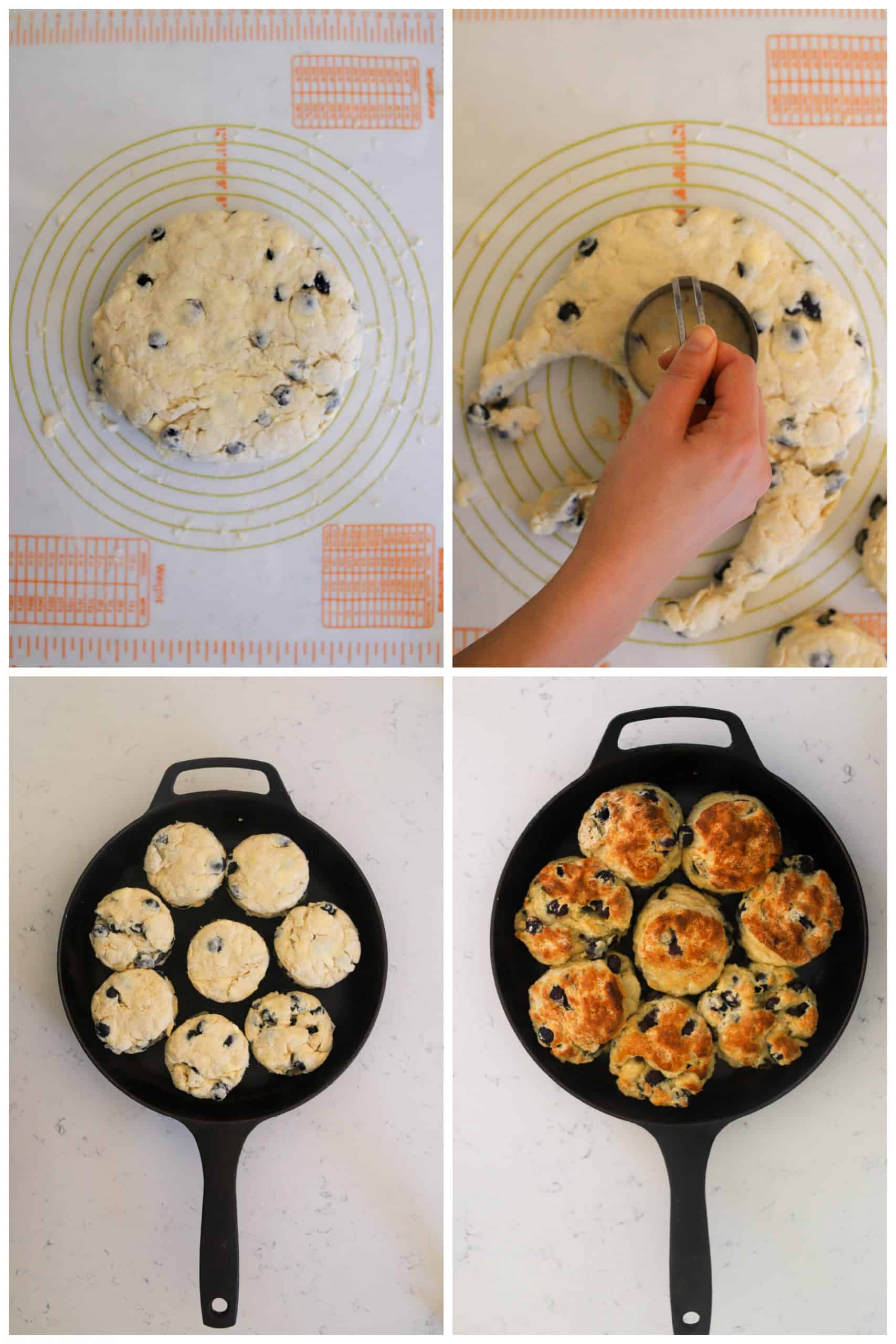 blueberry biscuit step by step