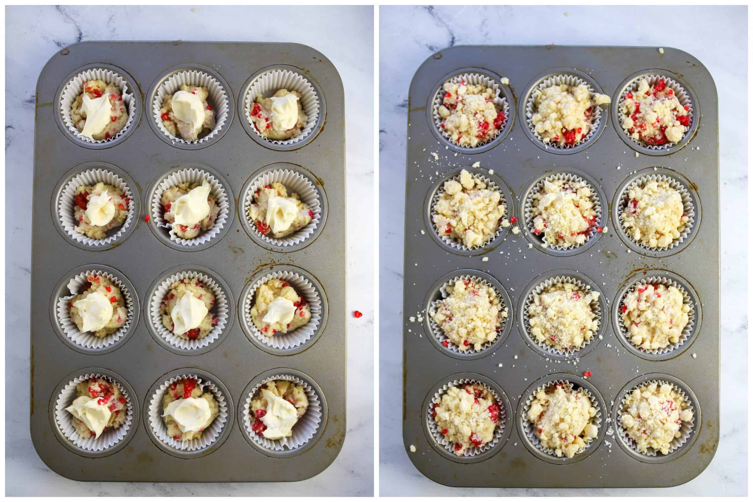 raspberry cream cheese muffins unbaked
