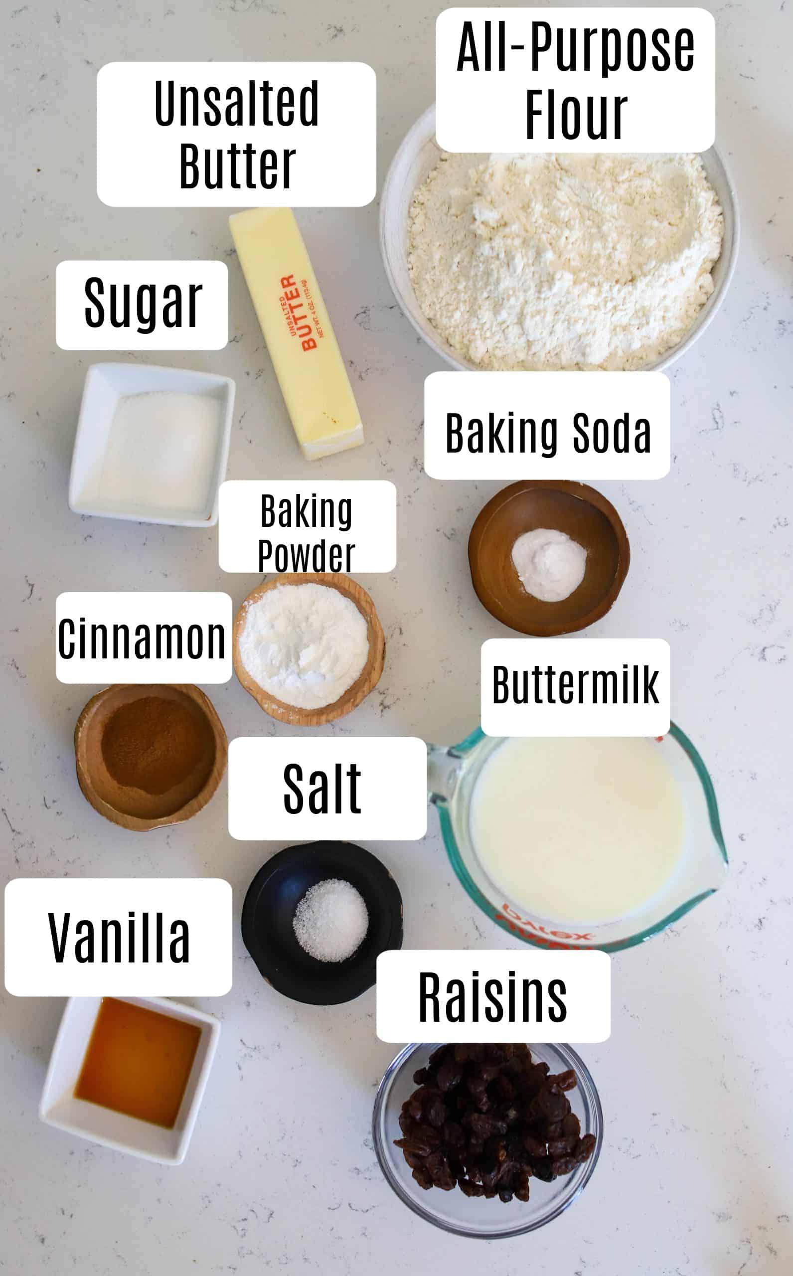 cinnamon raisin biscuit ingredients