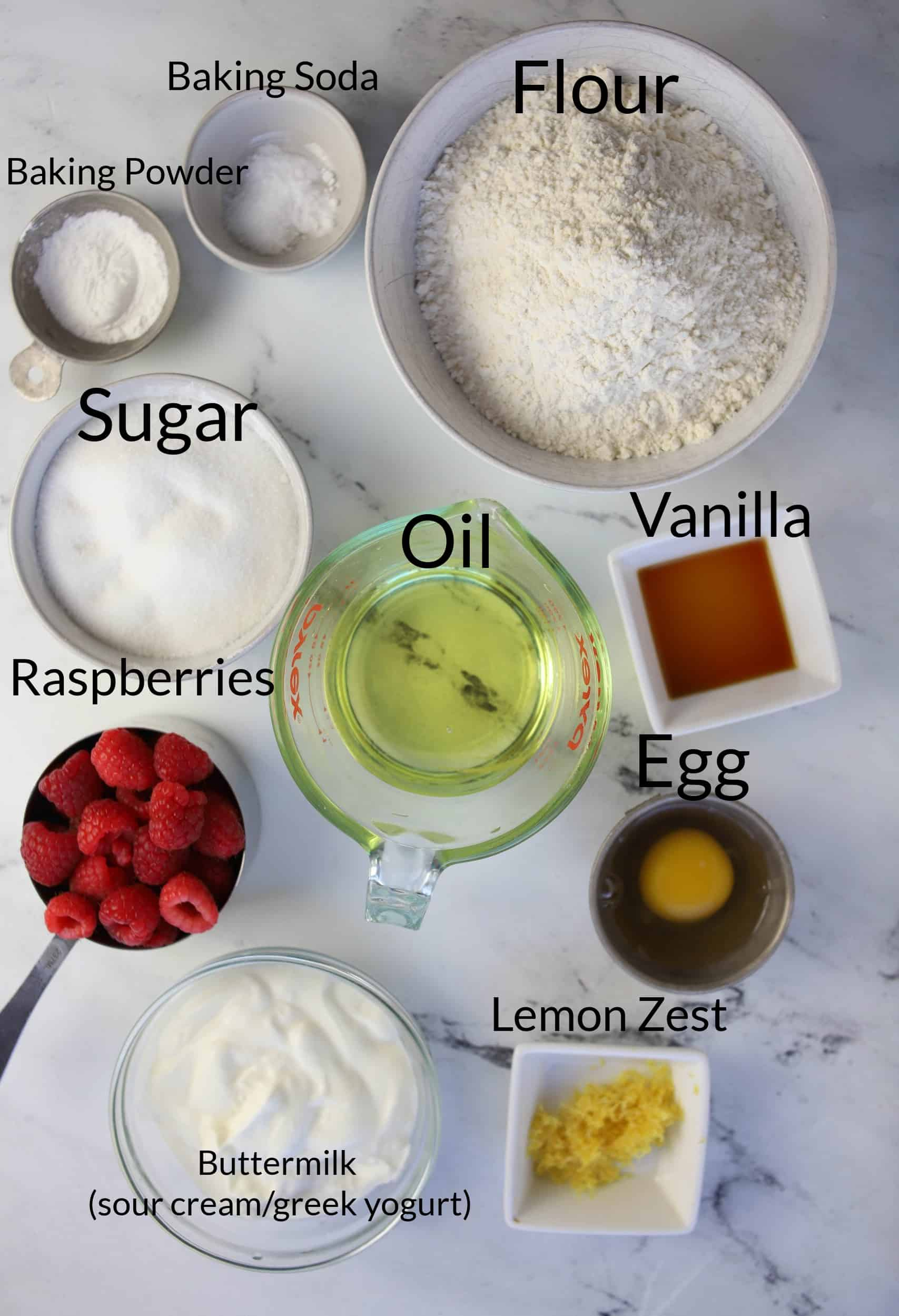 raspberry cream cheese muffin ingredients