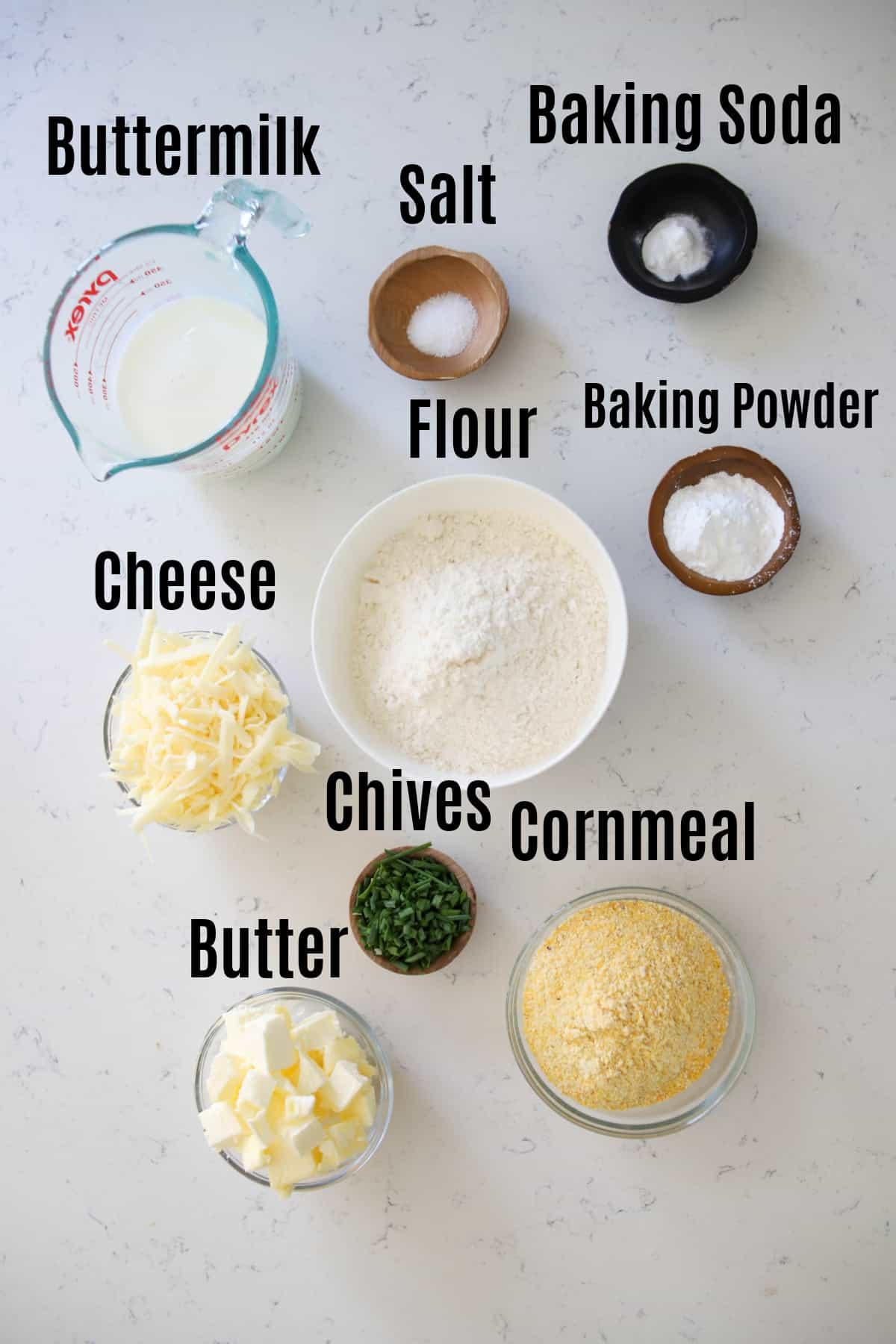 cornmeal biscuit ingredients