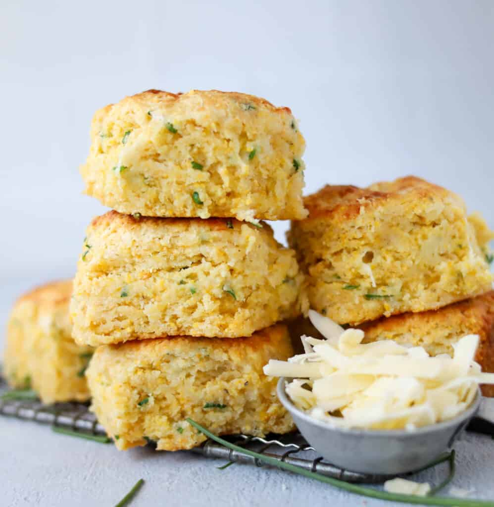 stack of cornmeal biscuits