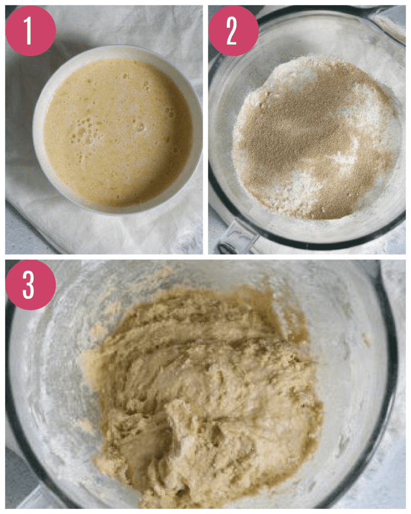 yeast donut dough being made