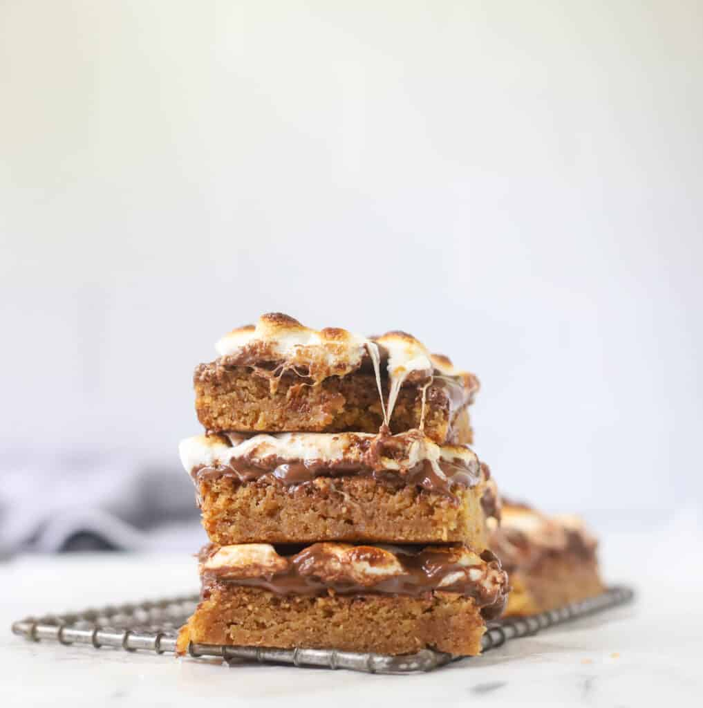 three stacked S'mores bars