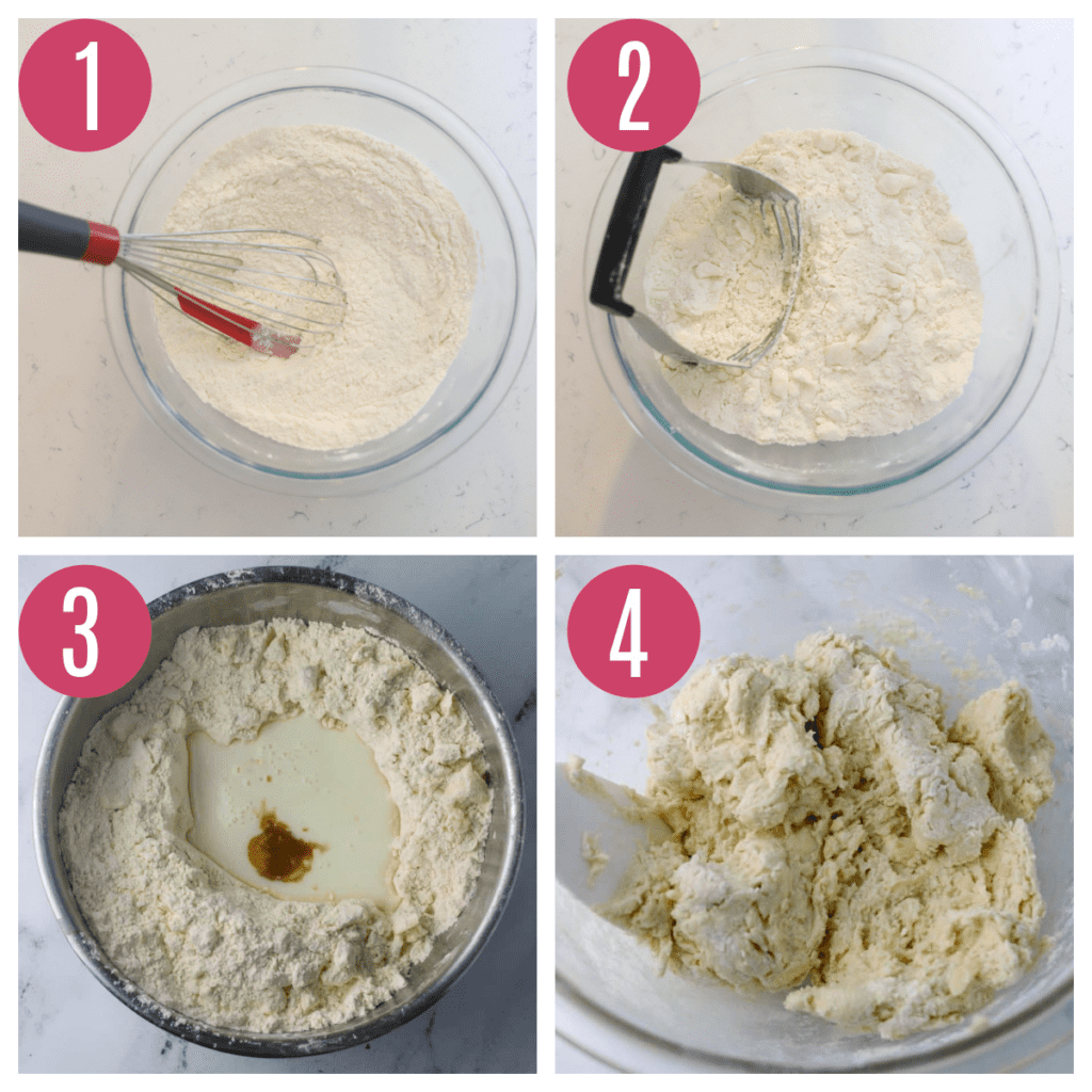 step by step photos of making shortcake biscuits