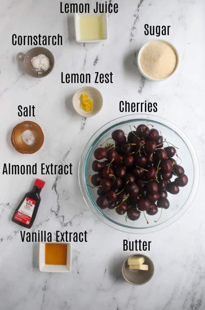 cherry crumb pie filling ingredients