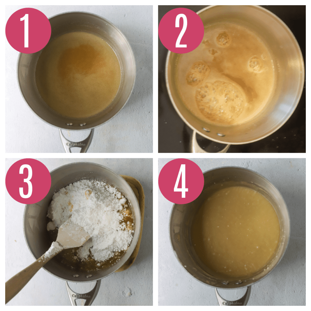 step by step photos of making caramel icing