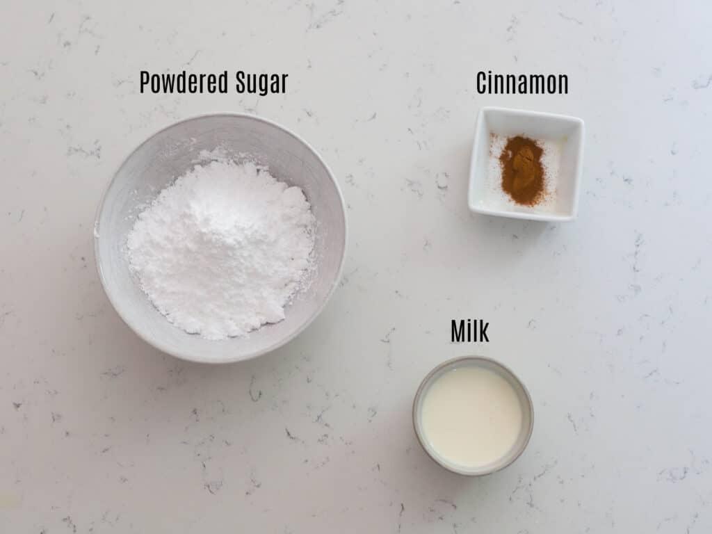ingredients for scone glaze