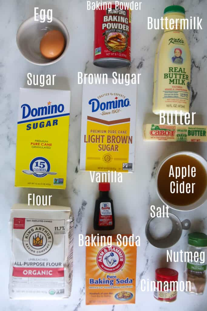 ingredients for apple cider donuts